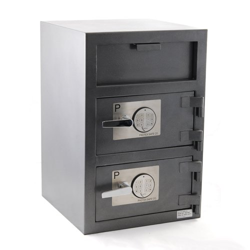 FDD-3020 Protex Dual Compartment Drop Safe/Front ()