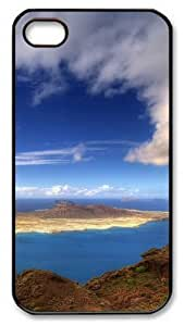 iPhone 4S Case and Cover -Beautiful Island PC case Cover for iPhone 4 and iPhone 4s ¡§CBlack