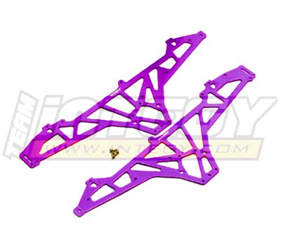 Integy RC Model Hop-ups T8108PURPLE Alloy TVP for HPI Wheely (Wheely King Chassis)