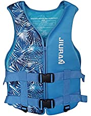Life Jackets for Adults, Buoyancy Vest, Personal Aid Jacket for Women Men S-XXXL Plus Size Whistle for Children & Adults Drifting, Fishing, Boat, Sea Bath, Swmming