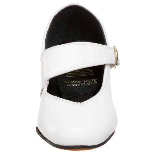 Tic-tac-tenen Womens Swing Dance Shoe White
