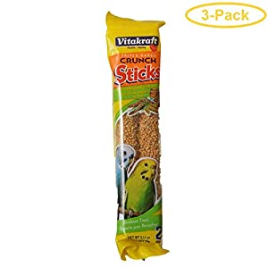 Vitakraft Crunch Sticks with Sesame and Banana Parakeet Treat 2.11 Ounce, Pack of 3 114