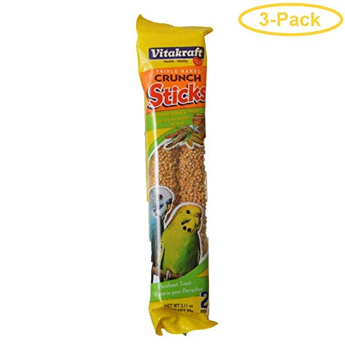 Vitakraft Crunch Sticks with Sesame and Banana Parakeet Treat 2.11 Ounce, Pack of 3