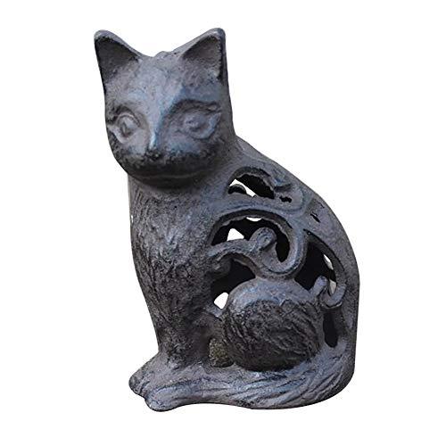 zenggp Cast Iron Frog Kitten Vintage Ornament Decoration Classic Wrought Iron Animal Villa Garden - Cast Ornaments Iron