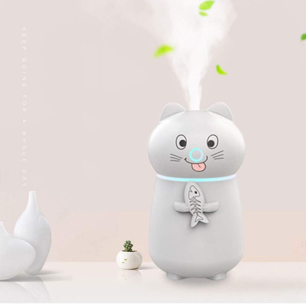 S-TROUBLE Mignon ultrasons purificateur dhumidificateur dair pour Animaux brumisateur avec Ventilateur USB /à lumi/ère LED