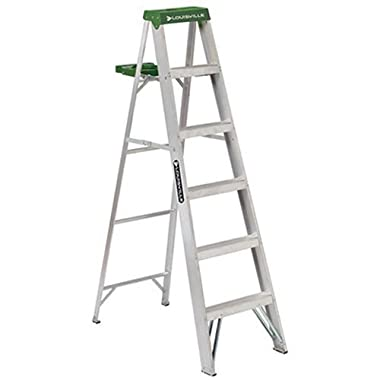 Louisville Ladder AS4006 225-Pound Duty Rating Aluminum Stepladder, 6-Foot