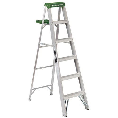 Louisville Ladder 6-Foot Aluminum Step Ladder, 225-Pound Capacity, ()