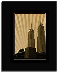 Al Kazim Towers Metro - Sepia No Text F04-nm (a3) - Framed
