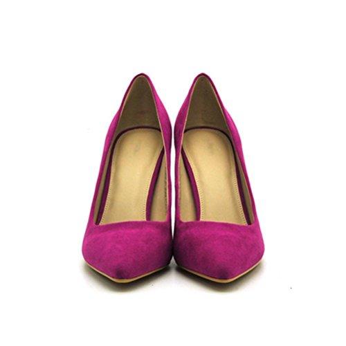 hauts peach Talons red de XIE Femmes Shallow Pointu Ensemble Fine pieds Chaussures femmes Femme Heel Confortable Singles Chaussures pour Mouth gw6gpU