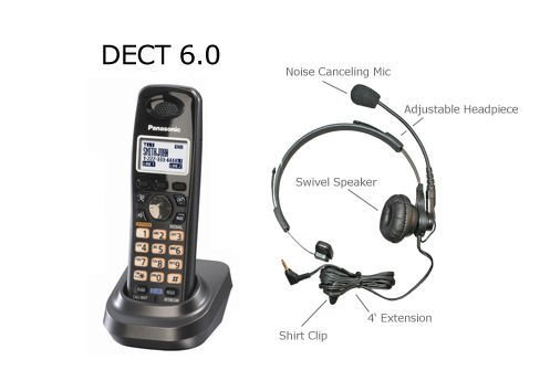 Panasonic DECT 6.0 2-Line Accessory Handset for KX-TG9391T, KX-TG9392T, KX-TG9381T, KX-TG9321T KX-TG9322T and KX-TG9382T *** WITH FREE HEADSET ***, Office Central