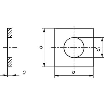 Scheiben DIN 436 Stahl blank vierkant