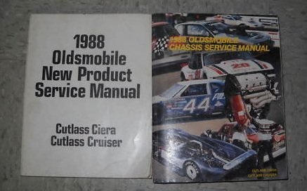 - 1988 Oldsmobile Cutlass Ciera Cruiser Service Manual Se (service manual, and the new product information manual.)