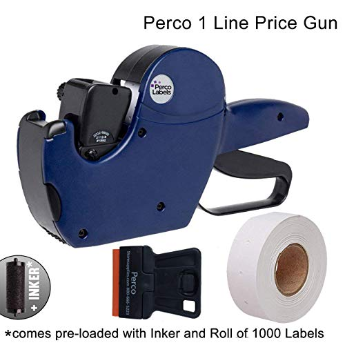 Perco 1 Line Price Gun - Includes 1 Line Pricing Gun, 1,000 White Labels, and Pre-Loaded Ink Roll by Perco (Image #4)