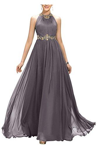 Grau Damen Wulstiges Jeweled Beyonddress mit Abschlussball Goldgürtel Langes AbendKleid vRxZq78w