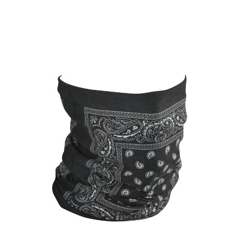 4002202 ZANheadgear Motley Tube Fleece Lined black Paisley ()