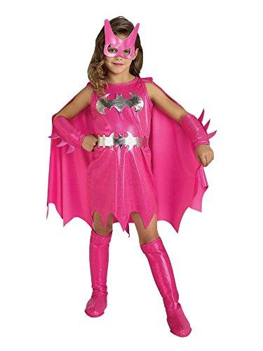 DC Comics Toddler Girls Pink Batgirl Costume Bat Girl 2T-4T (Batgirl Toddler Costume)