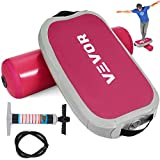 VEVOR Balance Board Standing Desk Exercise Balance Board Adjustable Pressure Inflatable Balance Board Adults and Children Physical Therapy Home or Outdoor(Pink)