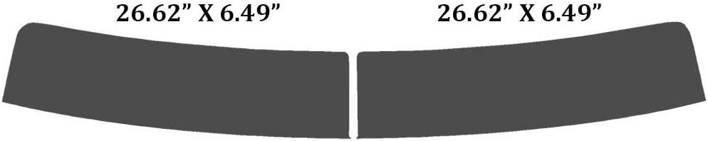 Precut Window Tint Kit 2018 /& 2019 Automotive Window Film 2017 2016 Fits: GMC Sierra 2500 3500 HD Double Cab 2015 Includes: Front Windshield Visor precut in 5/%