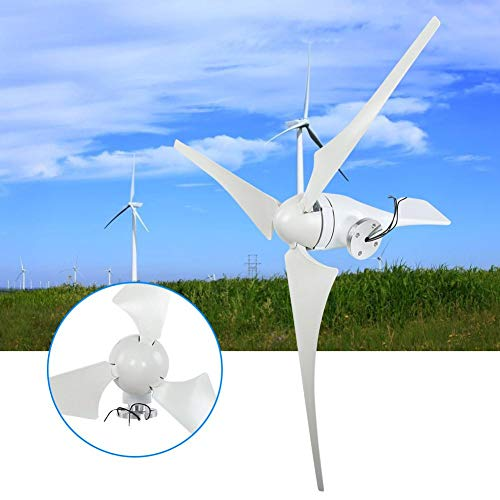 Pangding Wind Turbines Generator, NE-400S 400W 24V 3PCS 630mm Three Phase Permanent Magnet Generator Nylon Fiber Wind Blades Power Windmill