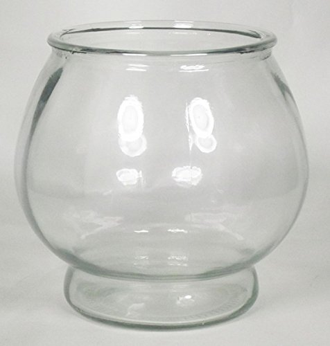 INNA Glas Set 3 x Portavelas Diana Sobre Soporte, Bola/Redonda, Transparente, 21cm, Ø16cm/Ø20cm - Pack de candeleros/Juego de recipientes para Velas