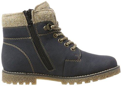 Rieker Mädchen K1568 Combat Boots Blau (Pazifik/Wood/Chestnut)