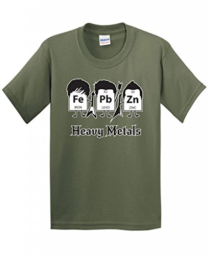 Nerd Day Ideas (Heavy Metals Periodic Table Science and Nerd Very Funny T-Shirt XL Military)