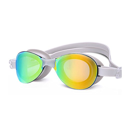 Natación Gafas Impermeables Antivaho Plana Natación Luz Gray De Gafas De HD Unisex Gafas con QY De Natación PcdqPB