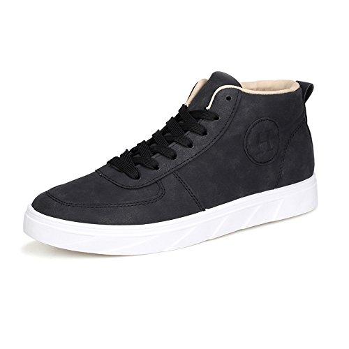 di di Tela Uomo Sneakers Casual Puro Black Scarpe Classiche da Scarpe up Cricket Lace Colore da Mocassini HPpW7q4B