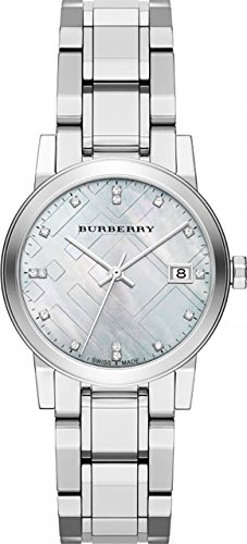 Burberry Diamond Accent Stainless Steel Ladies Watch - Accent Ladies Watch Diamond