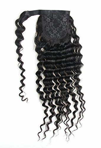 Ms Fenda Hair Raw Remy Virgin Peruvian Human Hair Natural Color Afro Kinky Curly Hair Piece Clip-in Top Closure Ponytail
