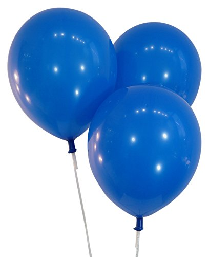 latex balloons blue - 3