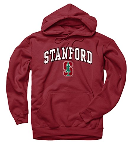 Campus Colors Stanford Cardinal Adult Logo Hooded Sweatshirt  Large