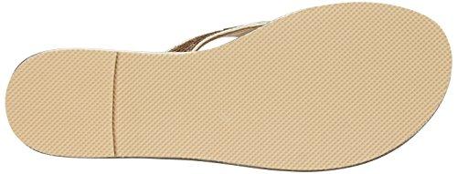 Nine West Women's Lextel Synthetic Flip Flop Light Gold Vv4LRzzf