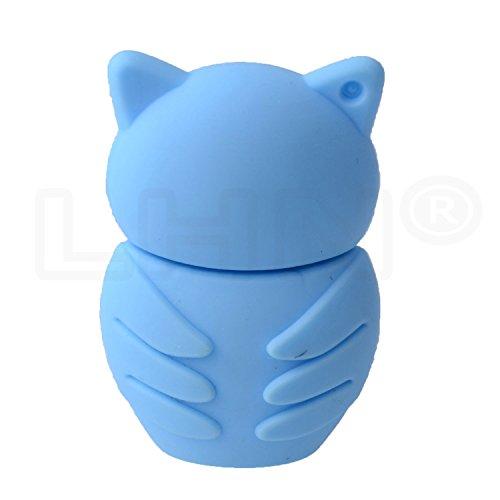 LHN® 16GB Night Owl USB 2.0 Flash Drive (Light Blue)