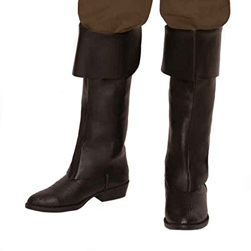 [Amscan Notorious Pirate Party Classic Boot (2 Piece), Brown, One Size] (Pirate Costumes Footwear)