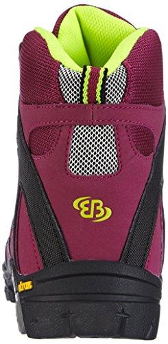 BruettingVision High Kids - botas de senderismo Niñas Rojo - Rot (bordeaux/schwarz/lemon)