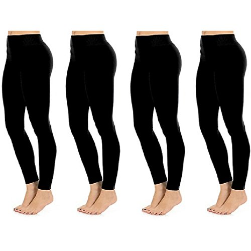 Deals on 4 Pack lFashionable Legs Seamless Full Length Leggings