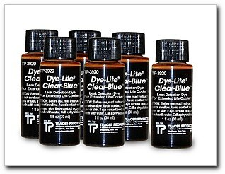 - Tracer Dye-Lite Clear-Blue Dye, 8 oz, Case of (6) 1 oz. bottles (TP3920-0601)