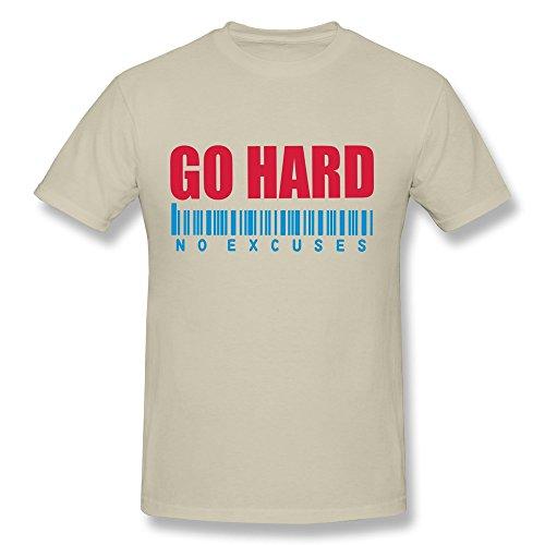 SNOWANG Men's GO HARD NO EXCUSES T-shirt XXL