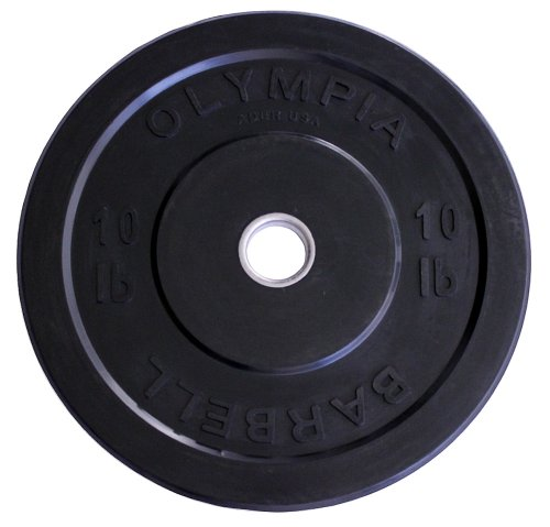 Ader Olympic Black Bumper Plates Set 4 Pair 230 Lbs by Ader Sporting Goods