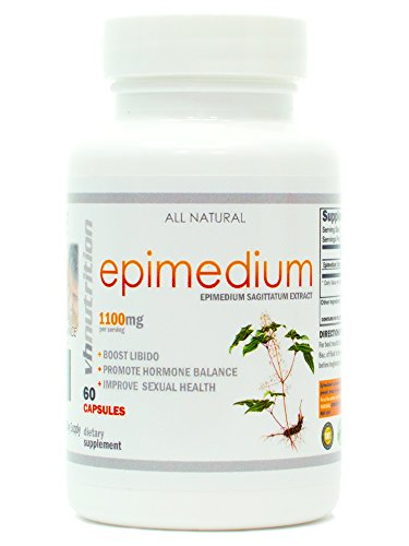 VH Nutrition | Epimedium 1100mg Supplement | Horny Goat Weed Extract | 30 Day Supply (Nutrition Horny Goat Weed)