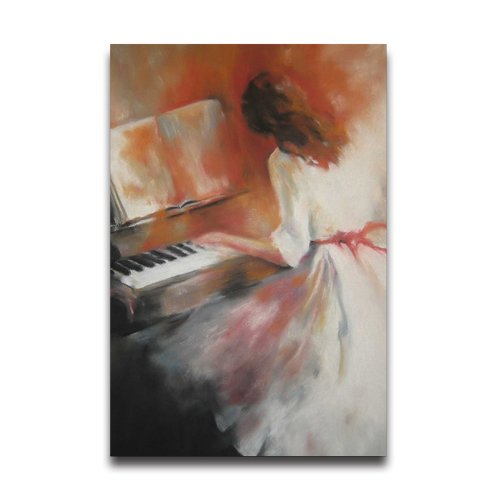 Girl Playing Piano Painting Customized Decorative Creative Art Design Wall Decor Custom Poster 20