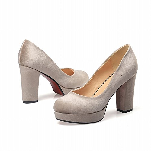 Mee Shoes Damen chunky heels Plateau runde Pumps Farbe4