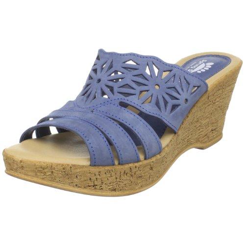 Scarpe Da Donna Primavera Sandalo Con Zeppa Con Zeppa Blu