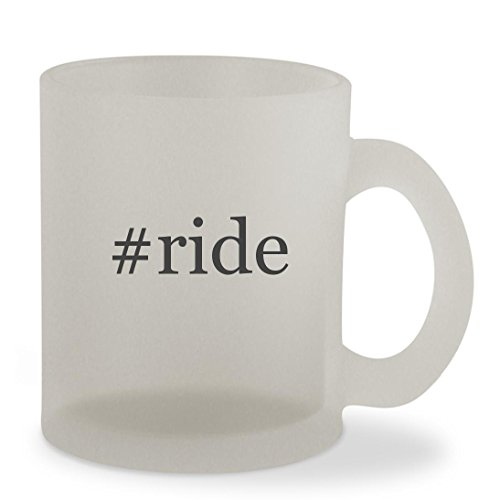 #ride - 10oz Hashtag Sturdy Glass Frosted Coffee Cup Mug