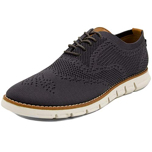 Nautica Men's Wingdeck Oxford Shoe Fashion Sneaker-Grey Knit-12