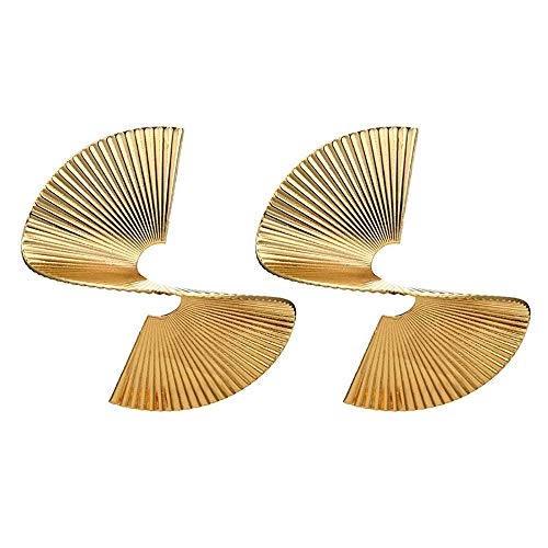 - Toponly Personality 3D Rotating Exaggerated Fashion Stereo Individual Spiral Earrings Women Gifts