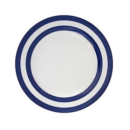 dunkelblaue R/änder Krasilnikoff Kuchenteller