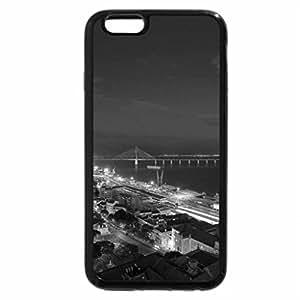 iPhone 6S Plus Case, iPhone 6 Plus Case (Black & White) - great harbor bridge from a balcony
