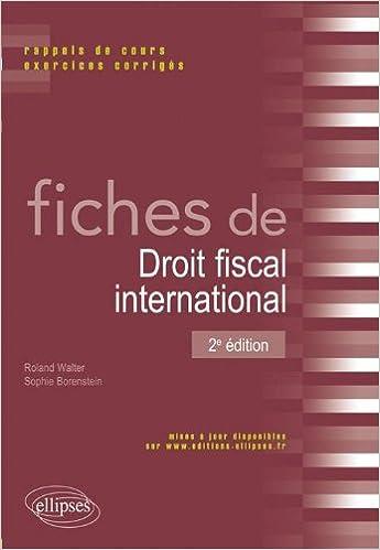 Télécharger en ligne Fiches de Droit Fiscal International pdf, epub ebook